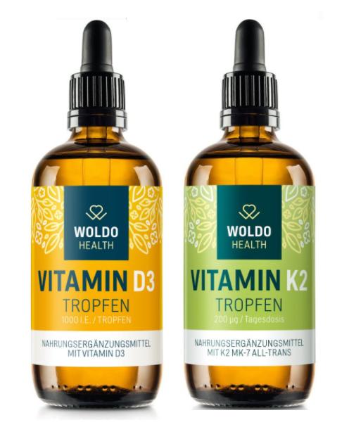 Doplňková Výživa - Vitamíny D3 + K2 v MCT (kapky) KAŽDÝ SAMOSTATNĚ po 50ml/1800 kapek