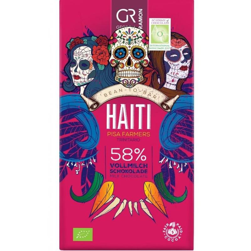 Doplňková Výživa - BIO 58% Haiti (mléčná) Georgia Ramon 50g