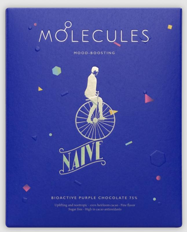 Doplňková Výživa - 75% MOLECULES (fialová bioaktivní čokoláda bez cukru) Naive