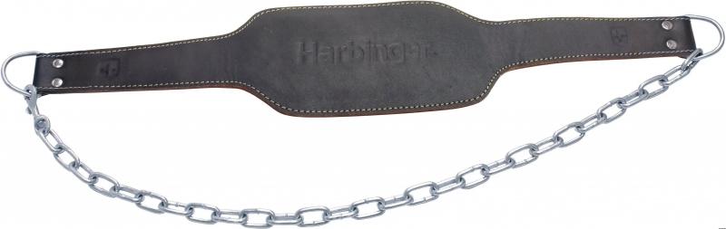 Doplňky k Workoutu - Opasek s řetězem HARBINGER (kůže)