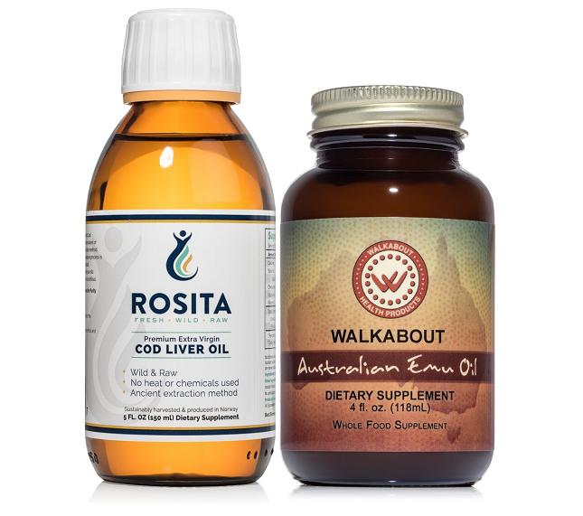 Doplňková Výživa - Kombinace Emu + Játrový tresčí Olej (118ml+150ml)