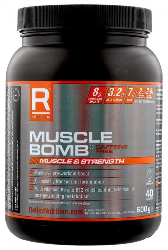 Doplňková Výživa - Muscle Bomb bez kofeinu 600g