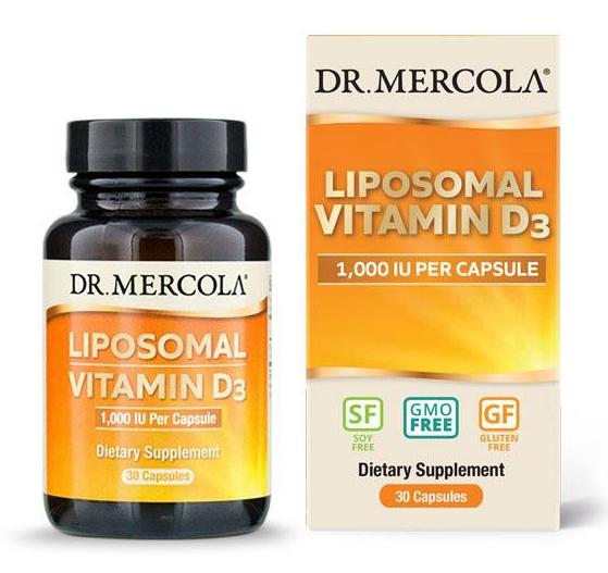 Doplňková Výživa - Liposomální vitamín D3 1000IU - 30 kapslí