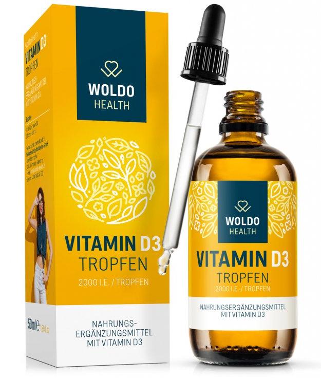 Doplňková Výživa - Vitamín D3 (2000IU kapky) 50ml/1800 kapek