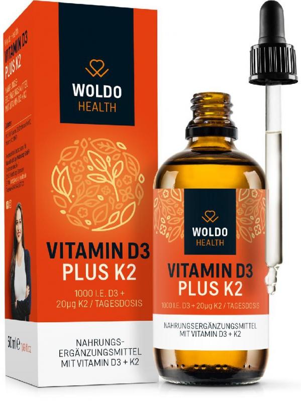 Doplňková Výživa - Vitamíny D3 + K2 v MCT (kapky) 50ml/1800 kapek