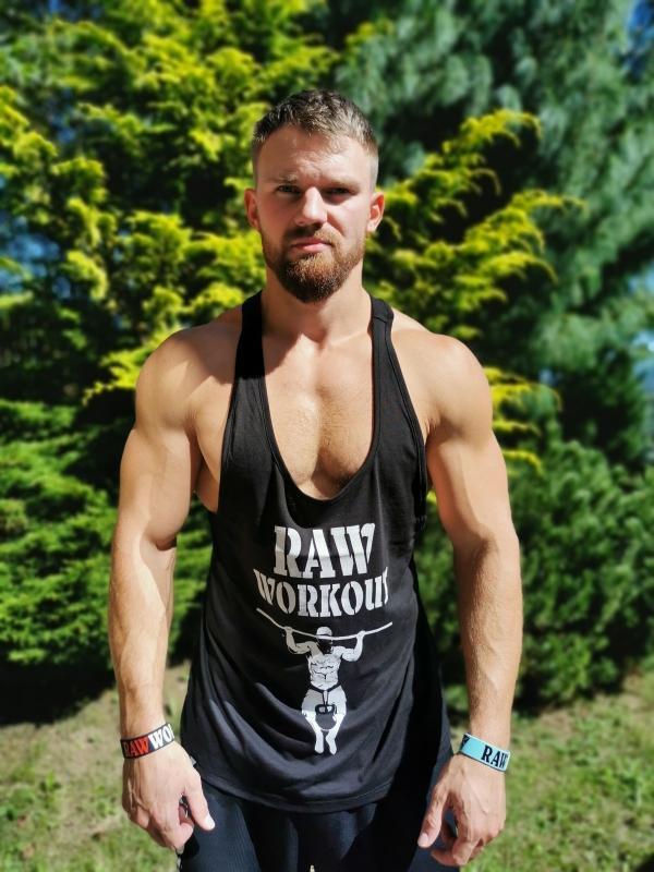 Oblečení - NEW Stringer Raw Workout (BLACK)