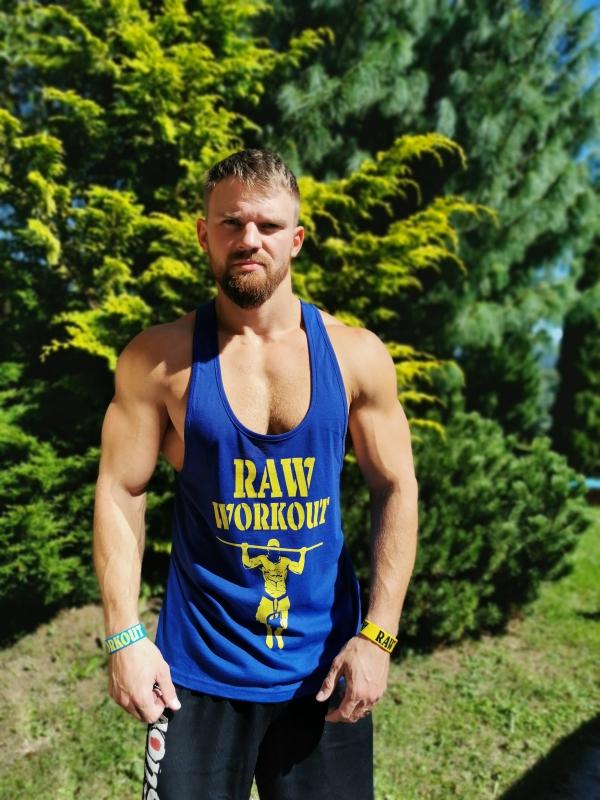Oblečení - NEW Stringer Raw Workout (ROYAL BLUE)