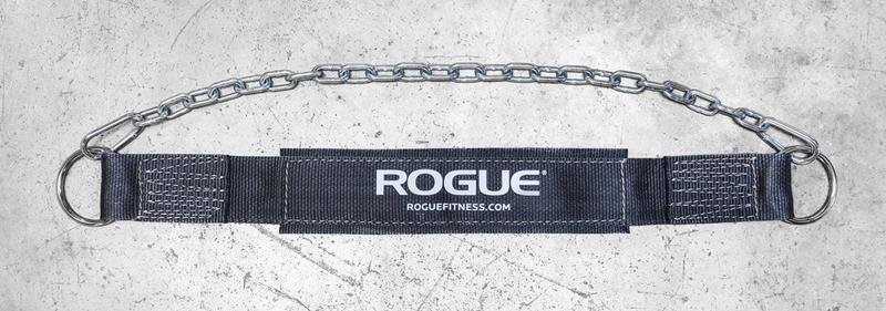 Doplňky k Workoutu - ROGUE pás s řetězem (černý)