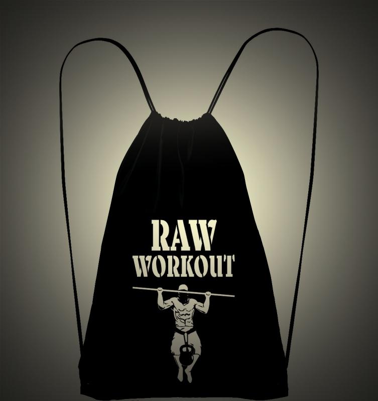 Oblečení - Raw Workout batůžek (černo-bílá)