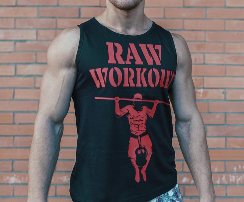 Oblečení - Raw Workout not Circus tílko (černá)