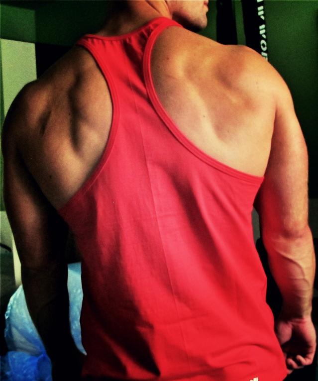 Oblečení - Stringer Raw Workout (červeno-bílá)