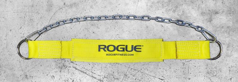Doplňky k Workoutu - ROGUE pás s řetězem (žlutý)