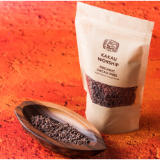 BIO Drcené kakaové boby CRIOLLO - Kakau Worship 150g
