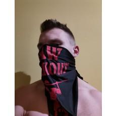 Šátek Raw Workout (černý s červenou)