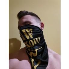Šátek Raw Workout (černý se žlutou)